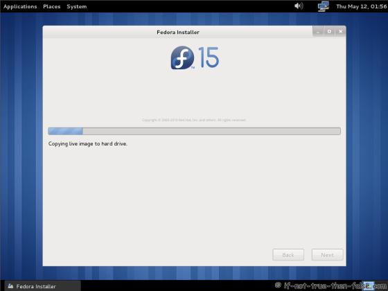 Fedora 15 (F15) Installing Fedora to disk