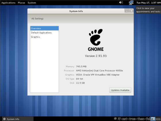 Fedora 15 (F15) Desktop
