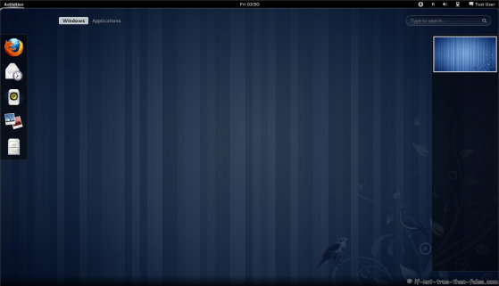 Fedora 15 Gnome Shell activities