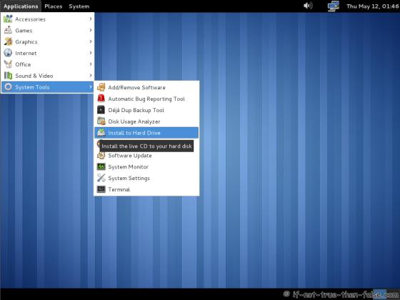 Fedora 15 (F15) Install to hard drive