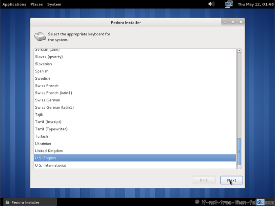 Fedora 15 (F15) Select keyboard