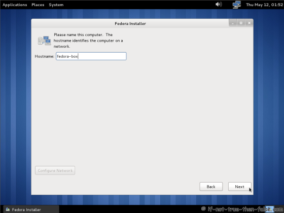 Fedora 15 (F15) Set computer hostname