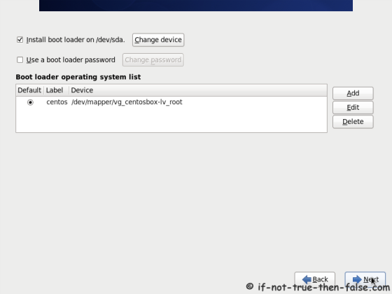 CentOS 6.10 Configure Boot Loader