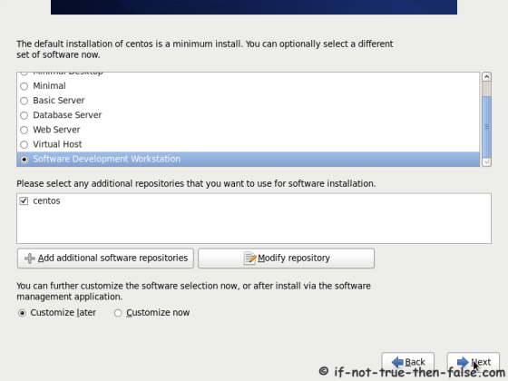 CentOS 6.8 Customize Package Selection
