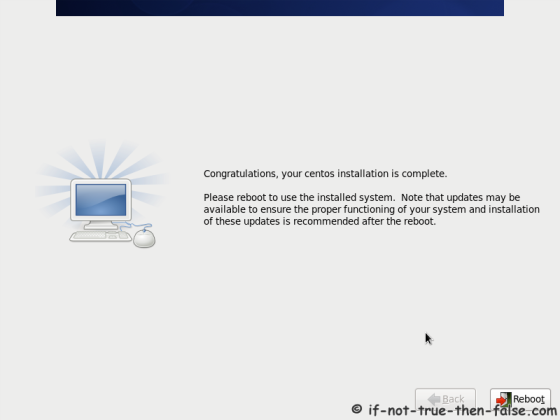 CentOS 6.8 Installation Completed
