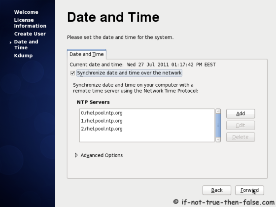CentOS 6.8 Date and Time