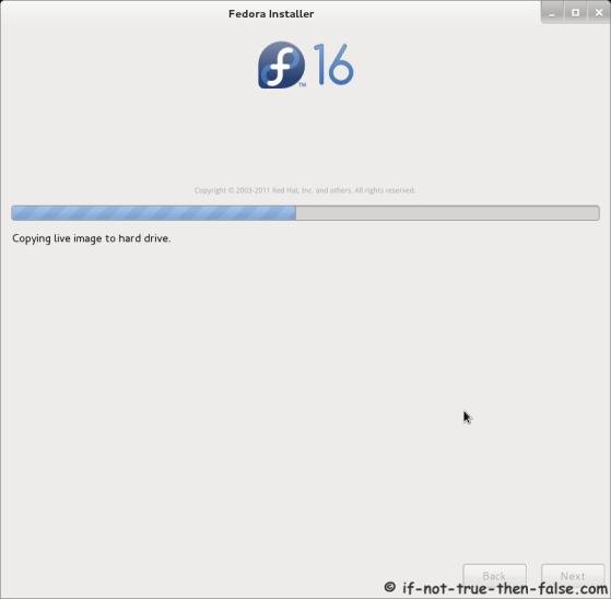 Fedora 16 Installer - Installing Fedora on Hard Drive