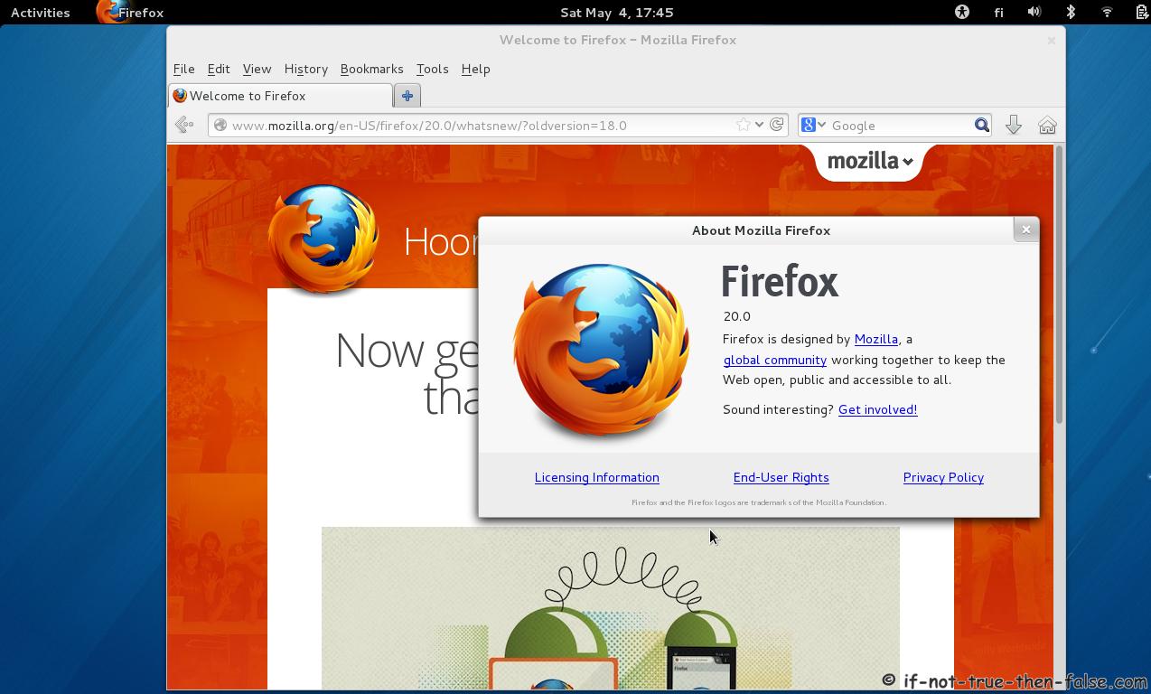 Install Firefox 26 on Fedora 20/19, CentOS/Red Hat (RHEL