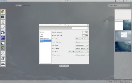 Gnome Shell - Smooth Inset theme