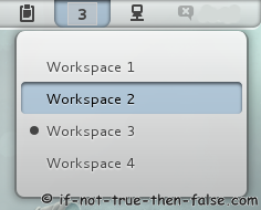 Gnome Shell - Workspaces menu