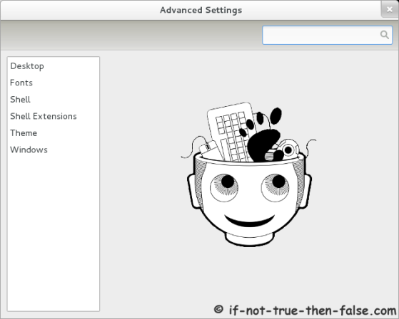 Advanced Settings (gnome-tweak-tool) main