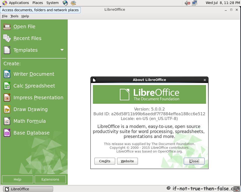 LibreOffice 5.0 Running on CentOS 6