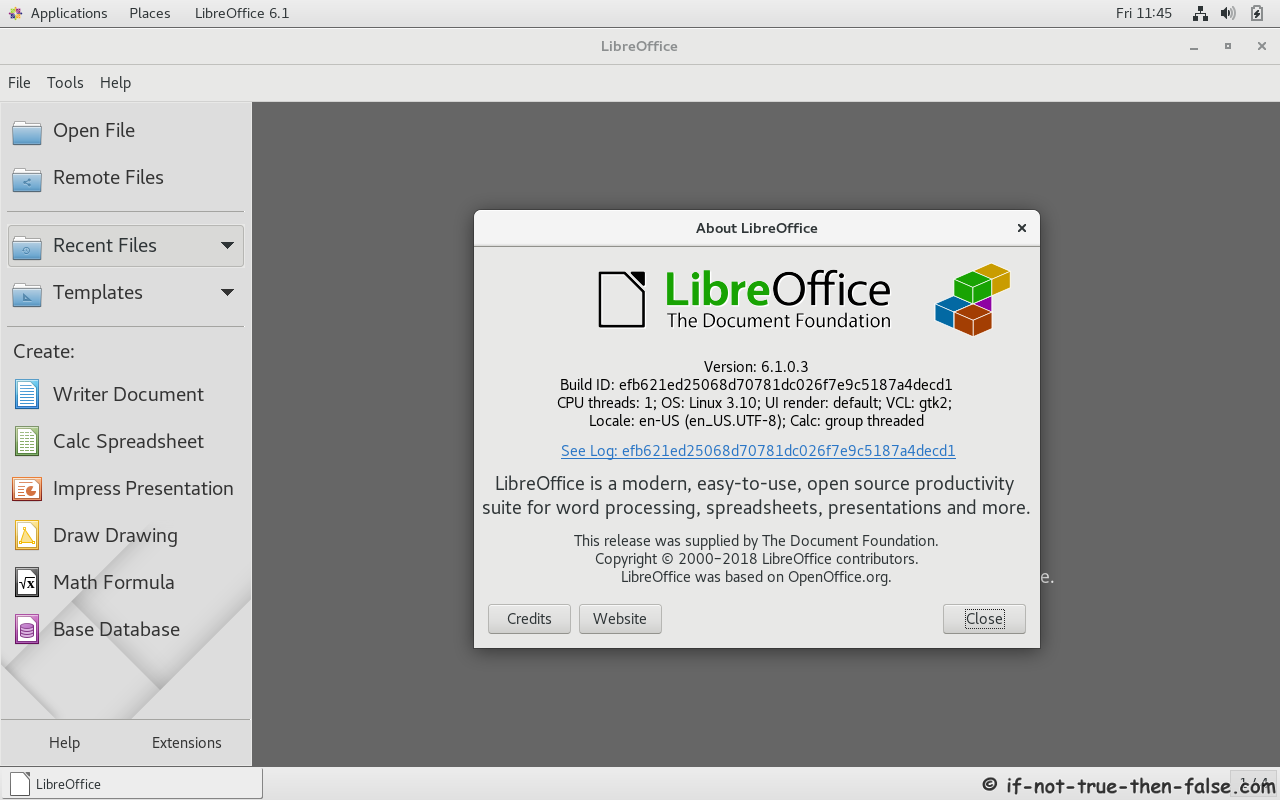 Install LibreOffice 6 1/6 0 on Fedora 29/28, CentOS/RHEL 7 5 – If