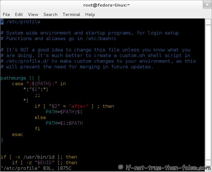 VI and VIM Syntax Highlighting on Fedora / CentOS / Red Hat (RHEL