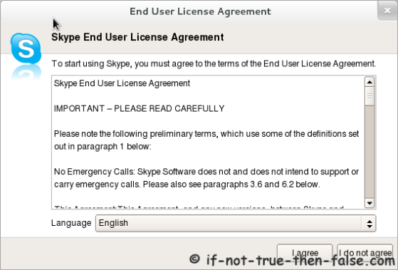 Skype End User License Agreement