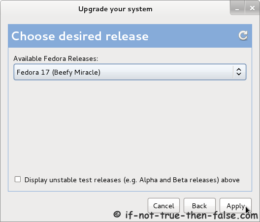 Fedora 16 Upgrade Your System