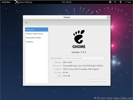 Fedora 17 Gnome 3.4.2 Details