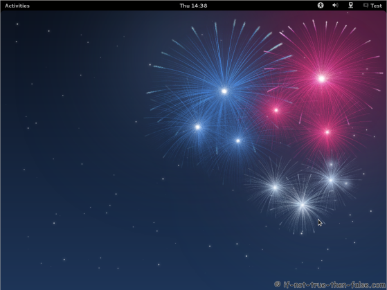 Fedora 17 Gnome Shell Plain