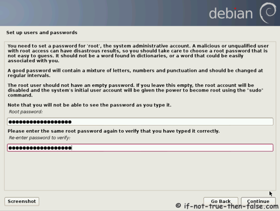 Debian Setup Users and Passwords