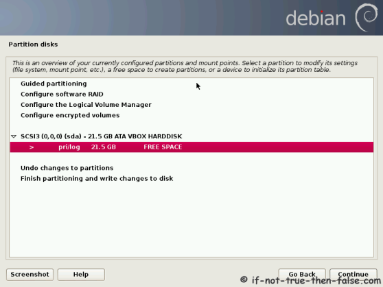 Debian Create Boot Partion
