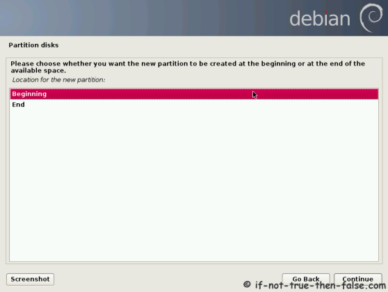 Debian Select Location