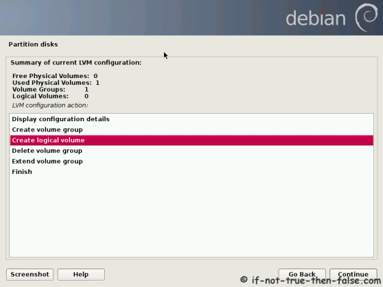 Debian Create Logical Volume Swap