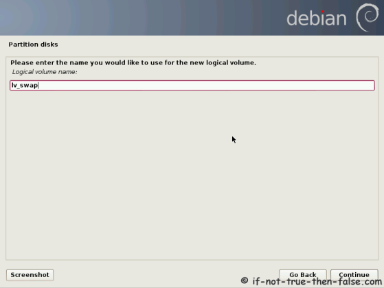 Debian Set lv_swap Name