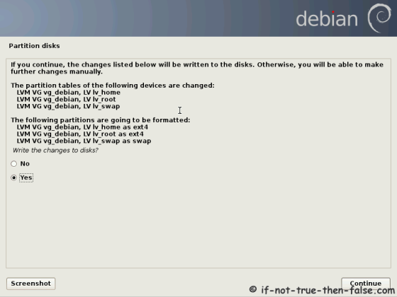 Debian Write to Disk