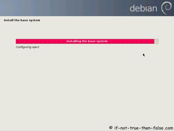 Debian installing base system 2
