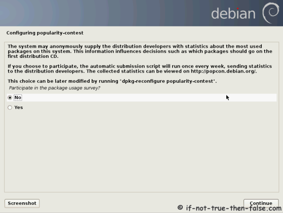 Debian Configure Popularity Contest