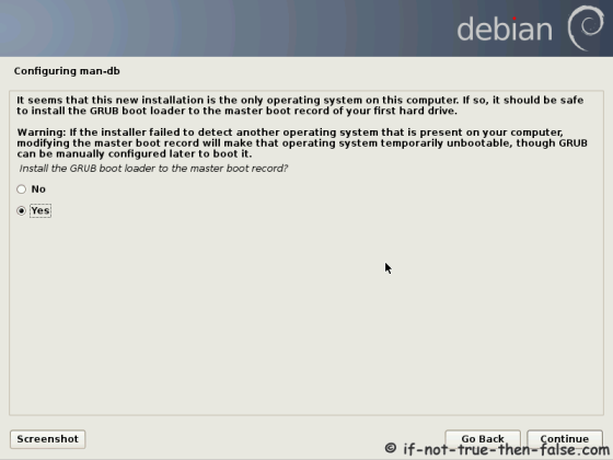 Debian Install GRUB to MBR