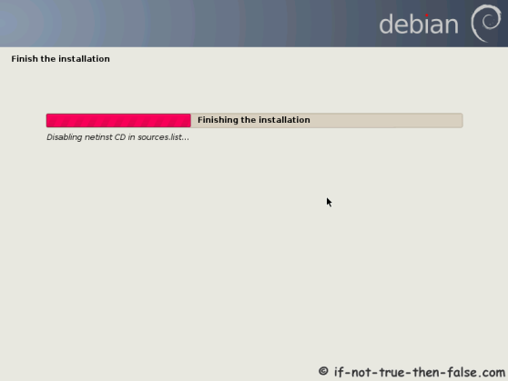 Debian Finish the Installation