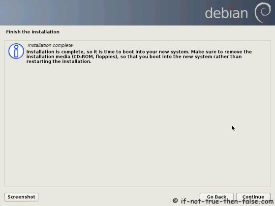Debian Installation Complete