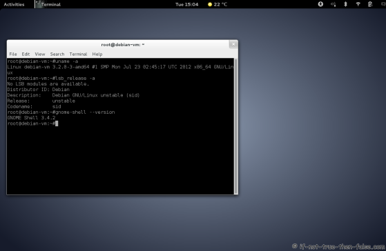 Debian Unstable Sid Screenshot with Gnome-Shell