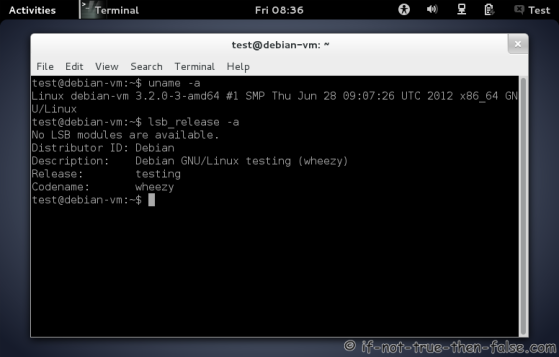 Debian Wheezy Desktop (Gnome 3.4.1)