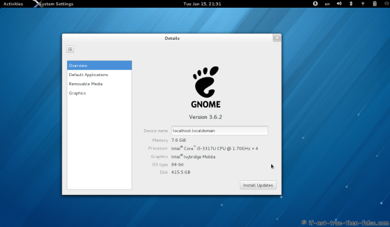 Fedora 18 and Gnome 3.6.2