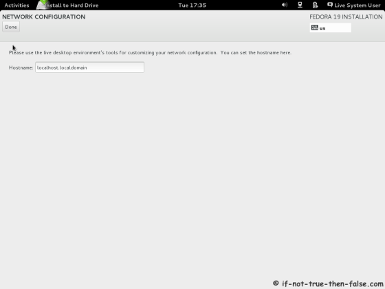 Fedora 19 Set Hostname