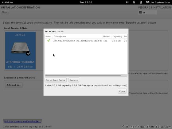 Fedora 19 Full Disk Summary