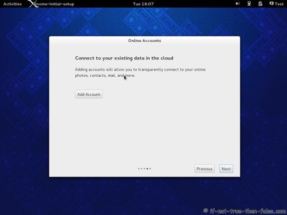 Fedora 19 Add Cloud Account