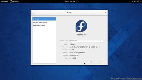 Fedora 20 and Gnome 3.10.2