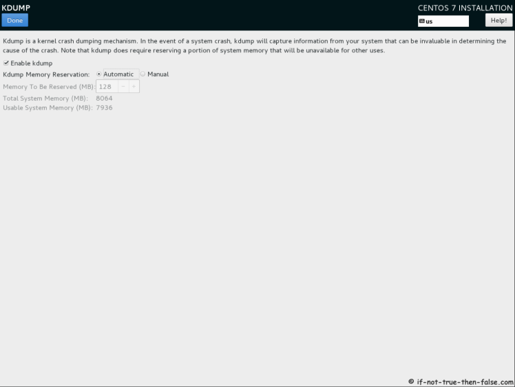 CentOS 7.7 Kdump