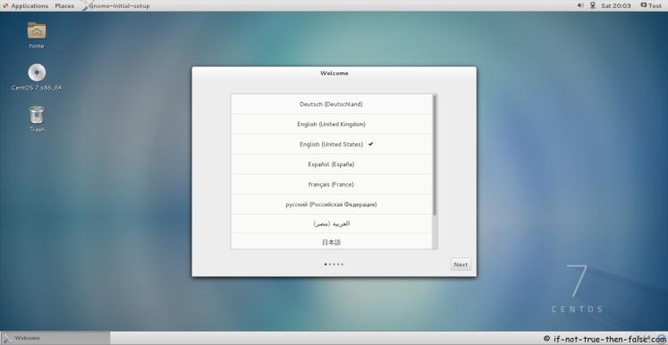 CentOS 7.7 Welcome