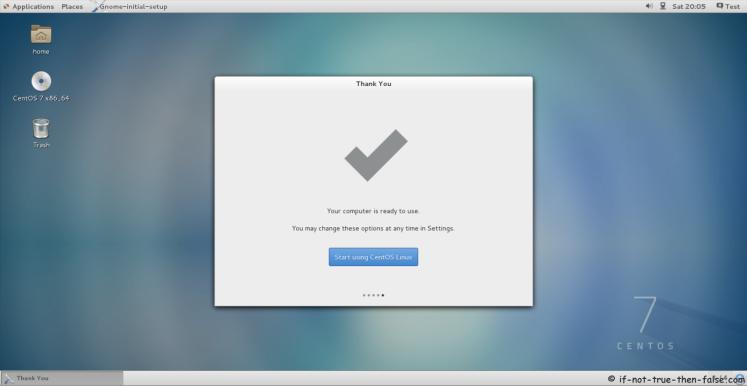 CentOS 7.5 Start Using CentOS 7