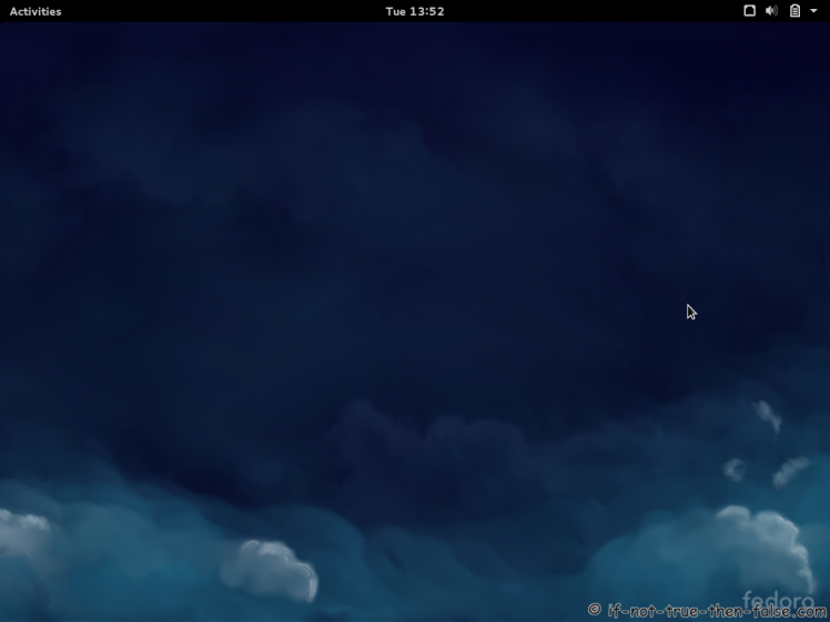 Fedora 21 Gnome Shell 3.14.2 Plain