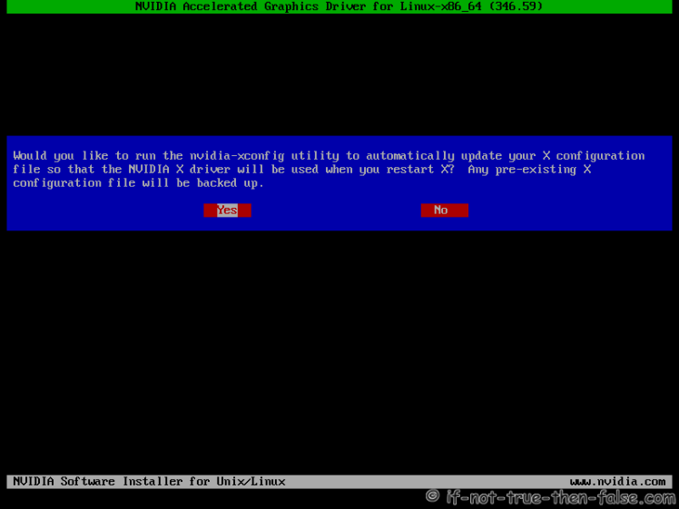 nVidia Installer Xorg Backup
