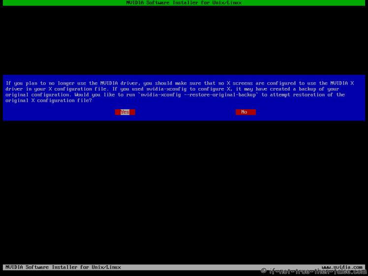 Fedora nVidia Uninstall Restore Xorg Conf