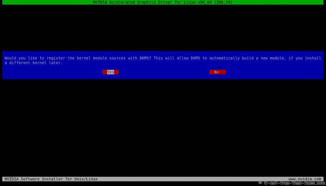 nVidia Installer dkms