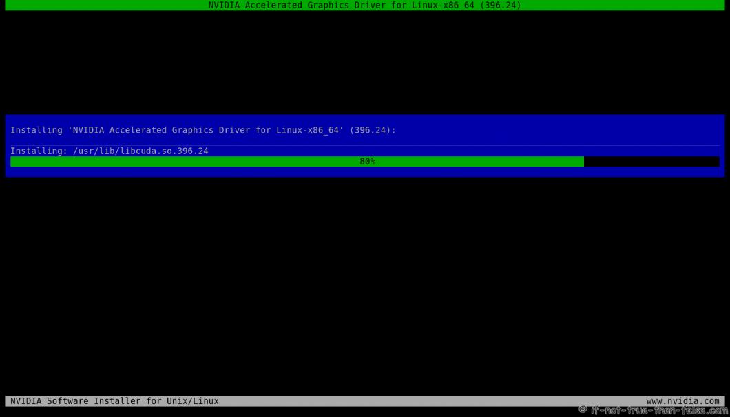 NVIDIA Installer Installing Files