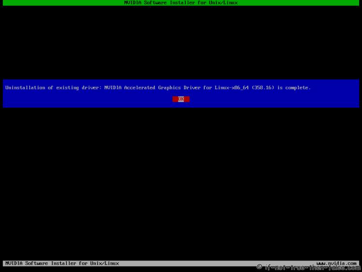 Fedora nVidia Uninstall Complete
