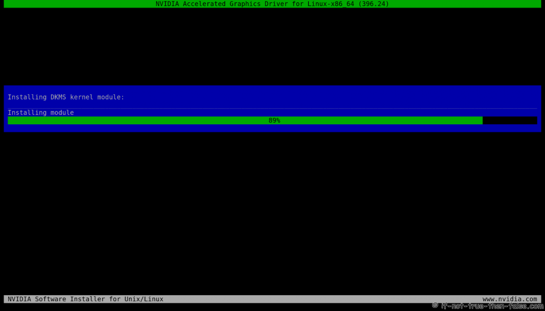 nVidia Installer Installing Kernel Module